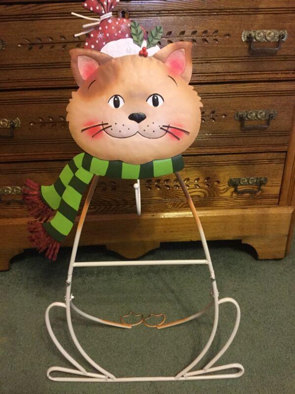 Cat Wreath Holder. New in Box
