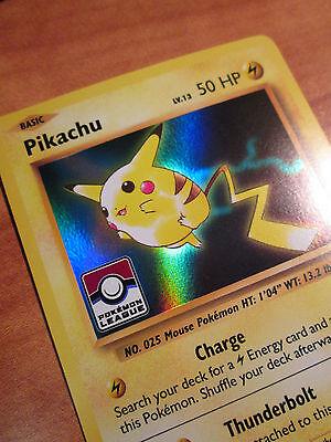- NM LEAGUE Pokemon PIKACHU Card BLACK STAR Promo Set XY202 Ultra Rare Holo Stamp