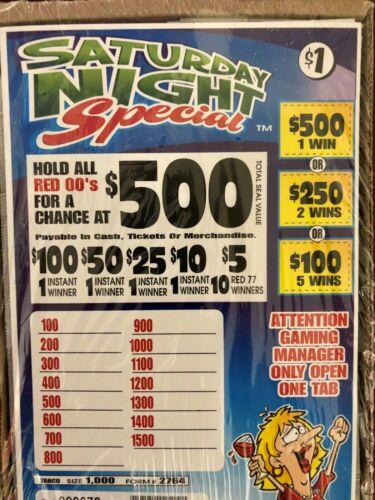 *$265 PROFIT SATURDAY NIGHT SPECIAL 1000 PULL TAB TICKETS $1 EACH $500 WINNER