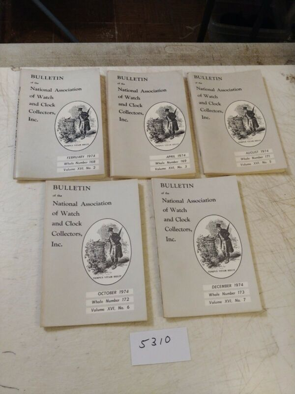 5 NATIONAL ASSOCIATION OF WATCH AND CLOCK COLLECTORS BULLETINS  1974