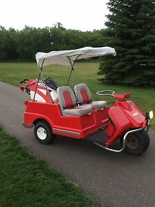 Harley Davidson golf cart. 3 wheeler, 2 stroke restored