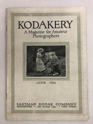 Antique Kodak KODAKERY MAGAZINE FOR AMATEUR PHOTOGRAPHERS JUNE 1914