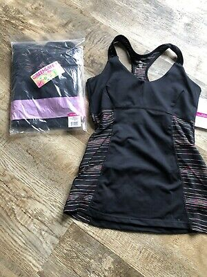 Greenlayer Women's Starstruck Long Sports Bra Tank Size Large Black Retail $55