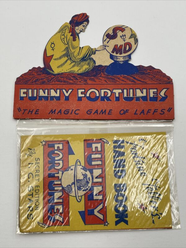 Vintage Funny Fortunes By I C Stars Fortune Tellers Game NOS Original Fun Mfg.