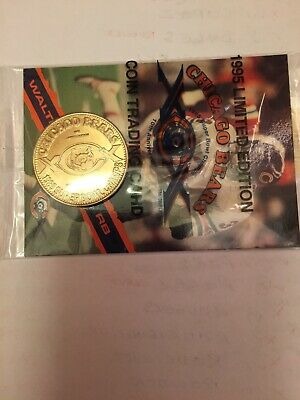 1995 Limited Edition Chicago Bears Walter Payton Coin & Trading Card