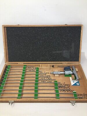 Mitutoyo 329-712-30 Digital Depth Micrometer Set 0 - 12 With 12 Rods .0001