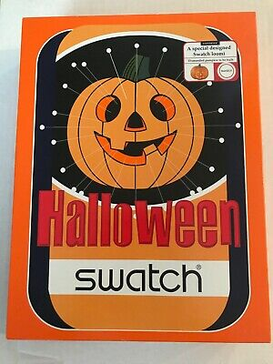 Swatch Watch Collectable: BRAND NEW Pair of 2 Halloween; Glow in the Dark
