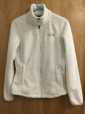 The North Face Osito White Fleece Jacket Women's Small Fluffy