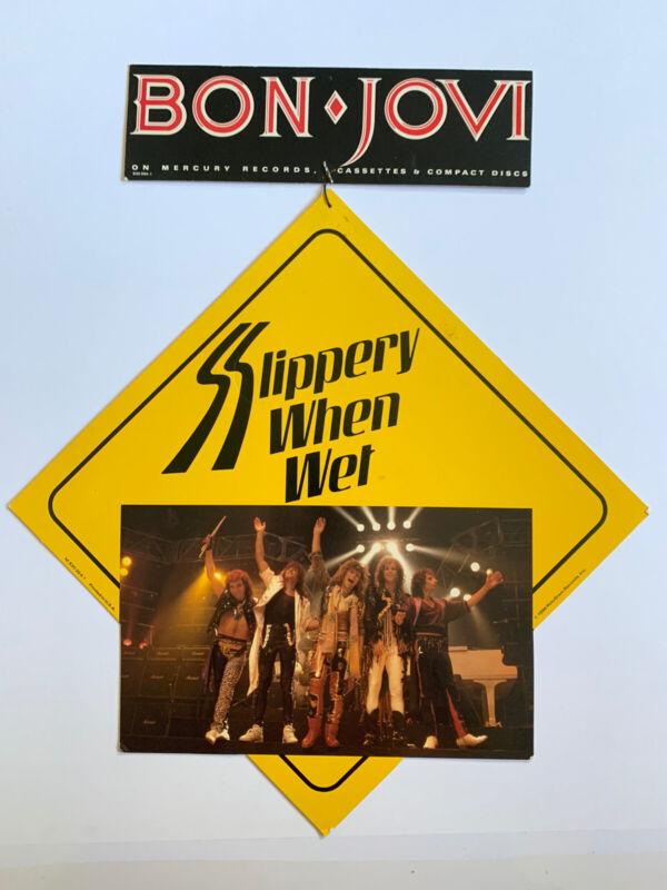 Original 1986 Bon Jovi Slippery When Wet Promo Rock Store Hanging Display Mobile