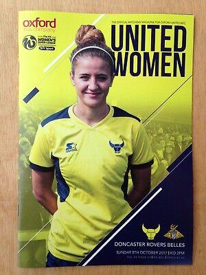 Oxford United Women v Doncaster Rovers Belles - WS2 League Programme - 08/10/17