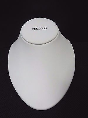 Bellarri White Leatherette Jewelry Display Bust Pendants Necklaces