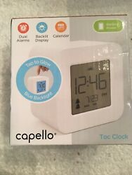 B91 New opened box Capello Compact Digital Alarm Clock - White Open Box