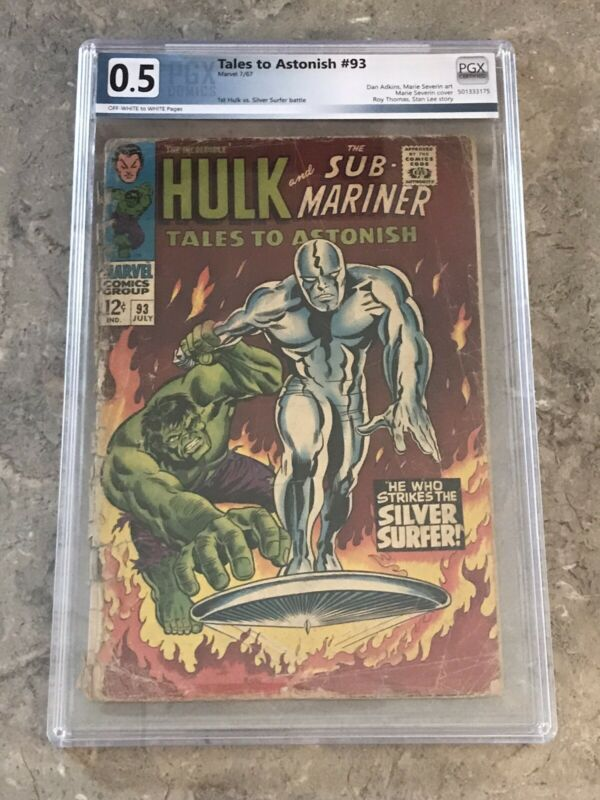 Tales To Astonish #93 marvel 1967 silver age PGX .5 comic! HULK! SILVER SURFER!