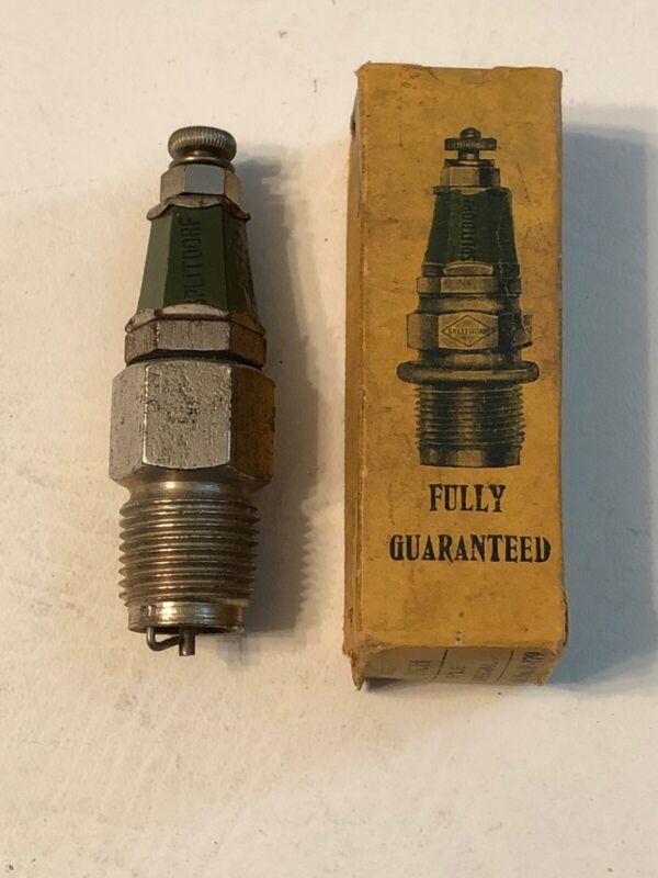 """NOS 1/2"""" Splitdorf Vintage Antique Motorcycle Spark Plug Indian Excelsior Thor"""