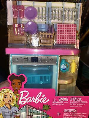 Barbie Indoor Furniture Set, Kitchen With Dishwasher And Accessories, Brand NEW