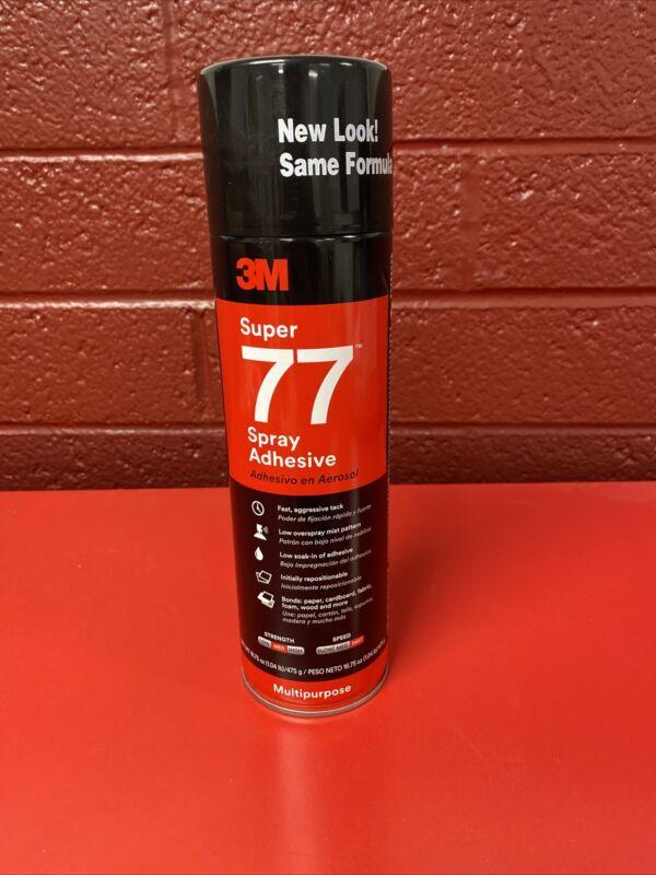 3M Super 77 Multi-purpose Spray Adhesive, 16.75 Oz Aerosol Can, Clear