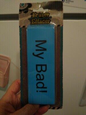 Giant Eraser Novelty Size Real eraser for work! Funny Gift NEW