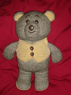 """Dakin Brown Tan Plush 12"""" Herringbone Bear with Tush Tag"""