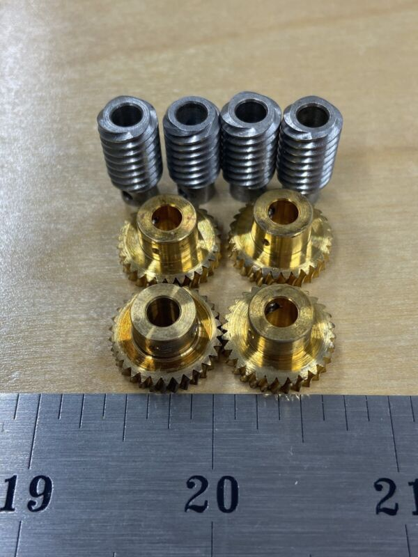Q-1319  WORM GEAR SET 30 TEETH 7.5:1 RATIO 48 PITCH FROM BOSTON GEAR QSH 4 LEAD