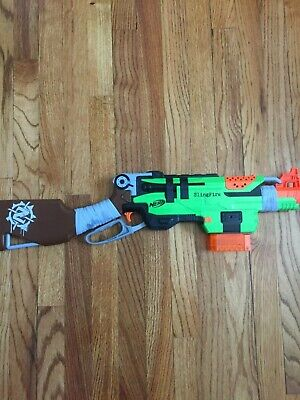 Nerf Zombie Strike SlingFire Blaster Used with ammo