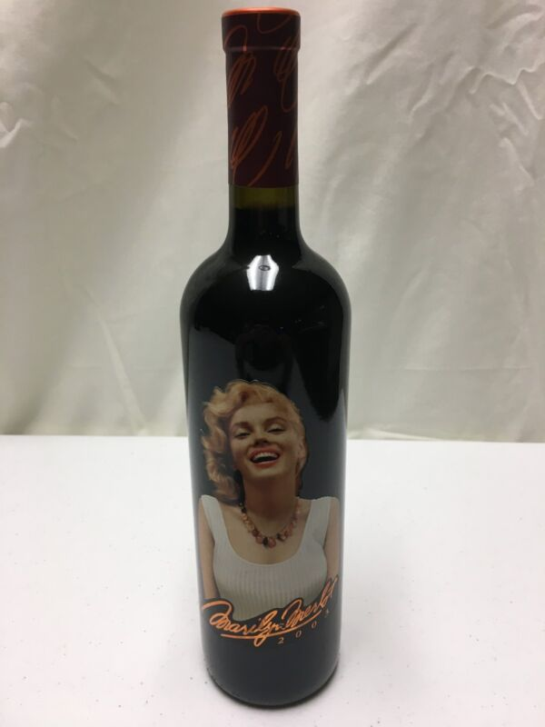 2003 Marilyn Monroe Merlot Napa Valley Red Wine Full Bottle