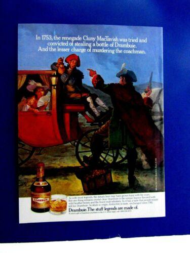 "Cluny MacTavish Stealing Drambuie Stagecoach 1989 Original Print Ad 8.5 x 11"""