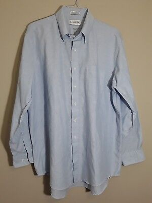 Alexander Lloyd Men's Dress Shirt Big and Tall Size 18 34/35 Long Sleeve Blue - Big And Tall Men ' S Dress Shirts
