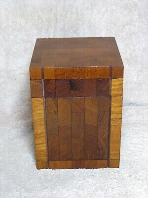 MCM DUNHILL CIGAR HUMIDOR TEAK END WOOD MADE IN