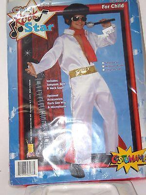 Size 4-6 Child Rock Star Elvis White Halloween Costume School Party Theater](Rock Star Halloween Mask)