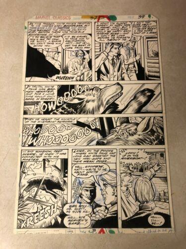 WHITE FANG original art MARVEL CLASSICS #32 Jack London 1978 RIVERBOAT AURORA
