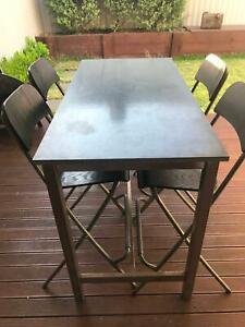IKEA UTBY Bar table & 4 chairs