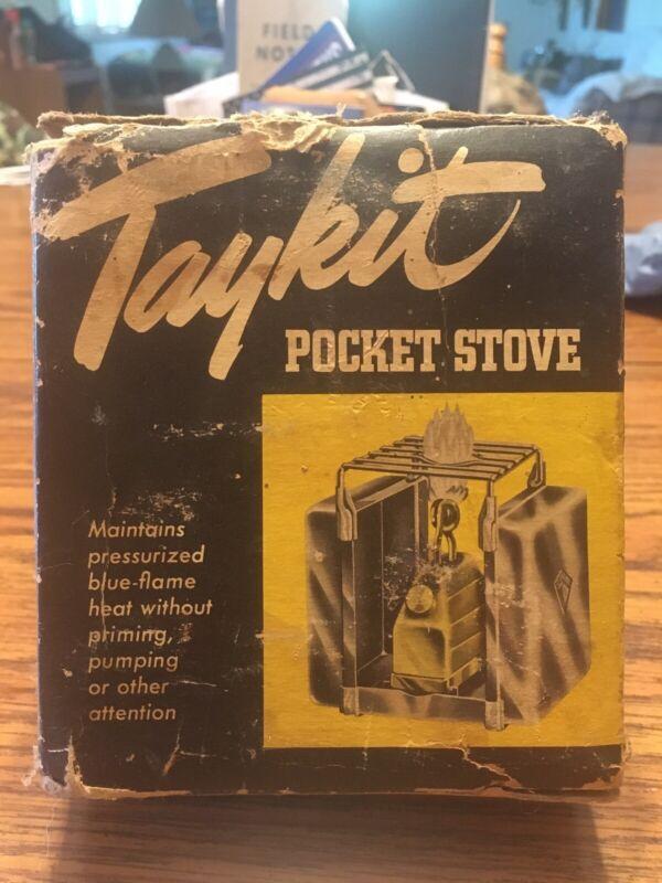 Vintage TayKit Pocket Stove Camp Stove Camping Single Burner Rare Find