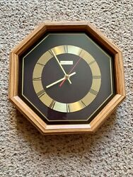 Vintage Linden Quartz Wooden Wall Clock Octagon Shape