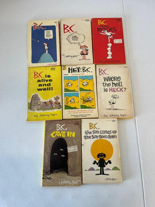 8 Vintage COMIC STRIP Books COLLECTION B.C Johnny Hart