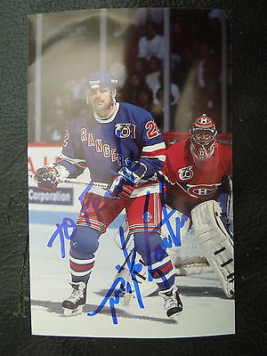 MIKE GARTNER AUTOGRAPH PHOTO ' NEW YORK RANGERS ' SIGNED ' AUTO