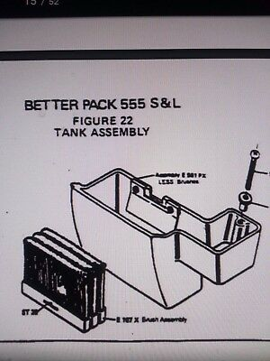 Better Pack 555 Sl Replacement Part Used Water Brushes Refurbished