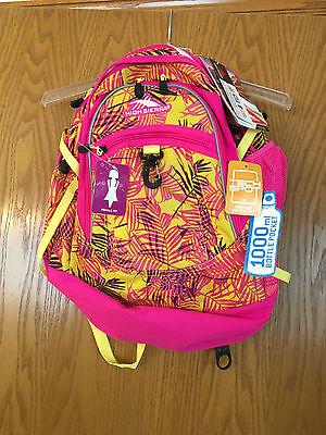 NWT High Sierra Curve Tech Backpack, Paradise-Flamingo #