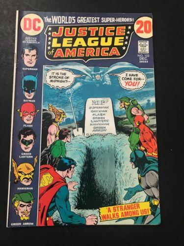 DC COMICS JUSTICE LEAGUE OF AMERICA #103 1972 VF
