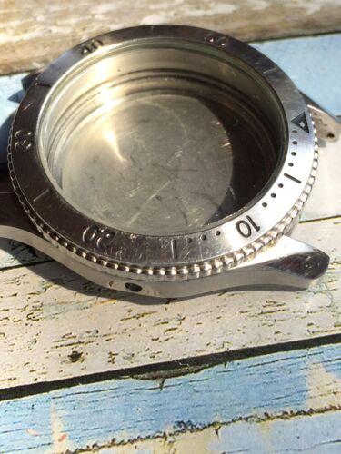 Vintage Bulova Alle Stahl Taucher Uhr Gehäuse 38mm