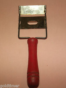 Vintage Kitchen 1950 60s Red Wood Handle Cheese Slicer