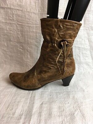 Khrio Ladies Ankle Boots UK Size 6 EU 39  Brown Leather