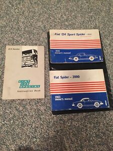 Fiat Spider Owners Manual