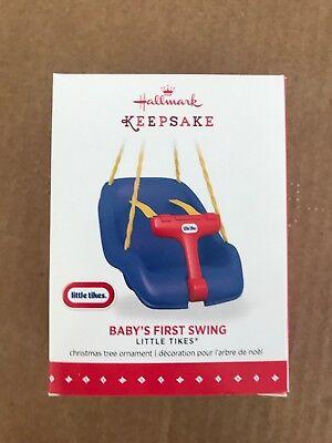 Little Tikes - Baby's First Swing Ornament 2015 Hallmark NIB