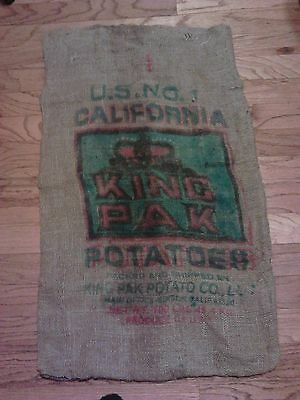Burlap potato bag, sack, 22 by 38 inch, washed, BEST price! LOOK!  YOUR CHOICE!