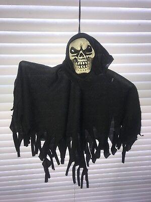 Decor Halloween Hanging Prop Reaper Skeleton Horror Ghost Ghoul Show Game Skull
