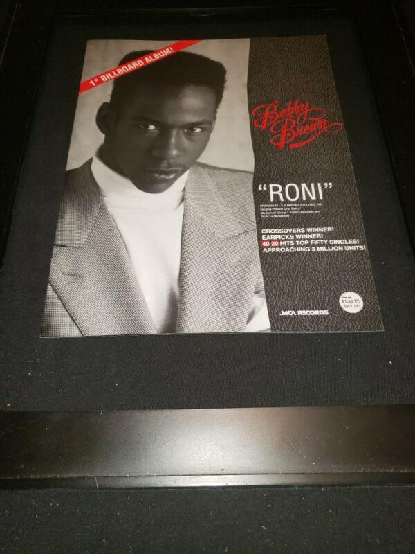 Bobby Brown Roni Rare Original Radio Promo Poster Ad Framed!