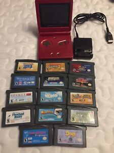 Gameboy advance sp 15 games Nintendo