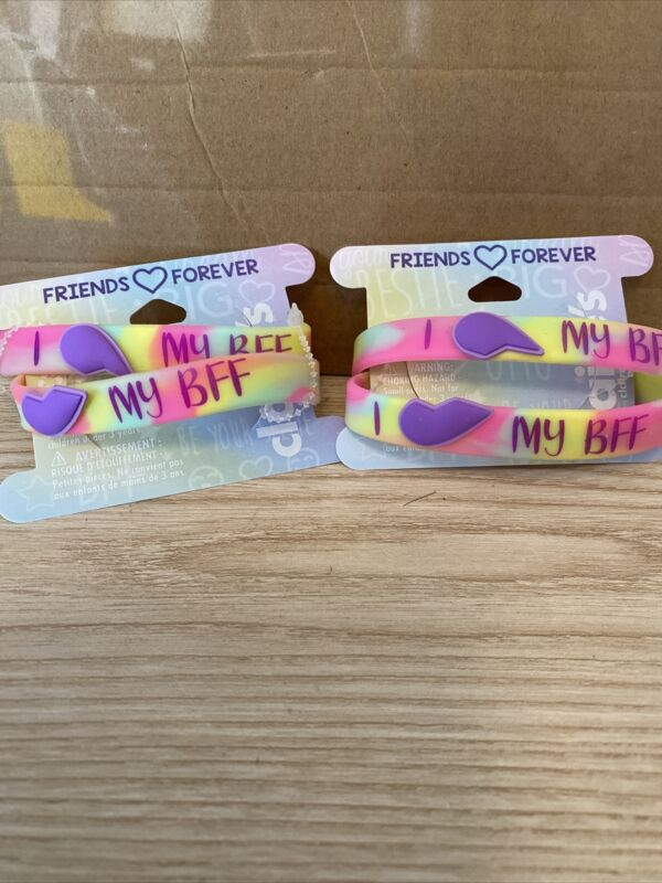Claire's Friend Forever Bracelets 2 Sets Of 2!! New