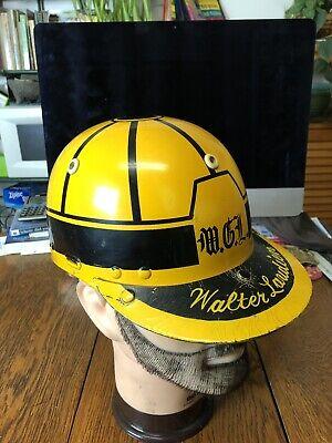 Vintage Jockey Horse Racing Helmet Named Leather Brim (Jockey Helmet)