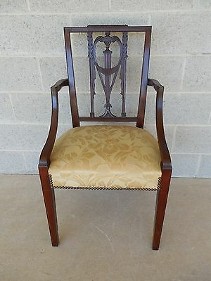 Square Back Chairs - WALLACE NUTTING original Square Back Federal Style Arm Chair